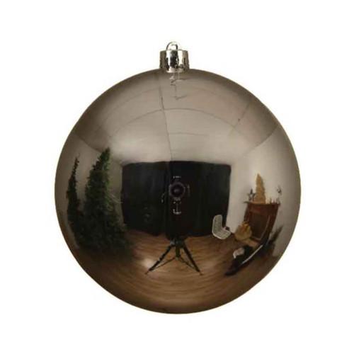 Silver Shatterproof Christmas Tree Ornaments - 14cm Diameter