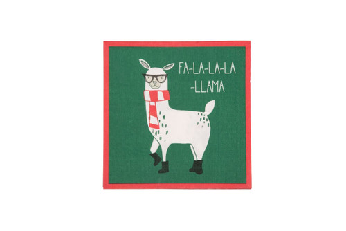 Paper Christmas Llama Napkin - Set of 20
