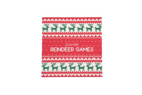 Paper Reindeer Games Napkins - Set of 20