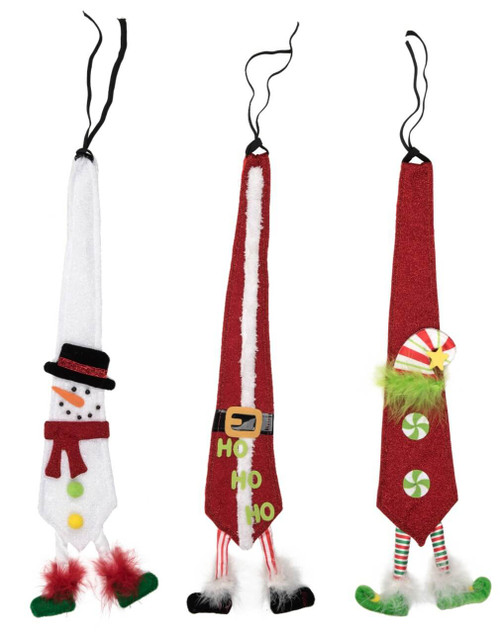 Fabric Christmas Dangling Legs Tie