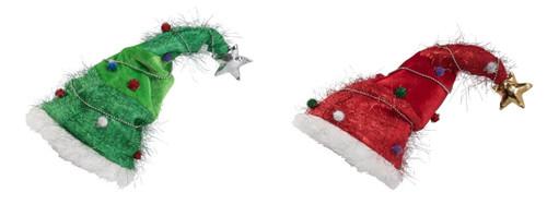 Elfin Ugly Santa Hat Green Red