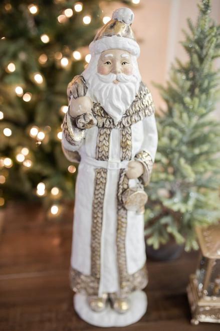 """21.5"""" Resin Santa with Bag"""