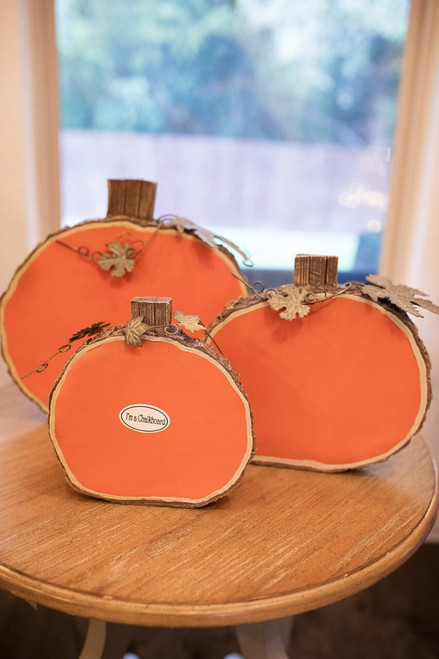 Resin Chalkboard Pumpkin Decor - Set of 3
