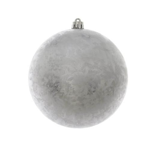 Silver Ice Lacquer Shatterproof Ornament - 14cm Diameter