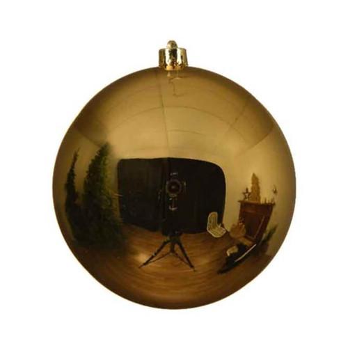 Light Gold 14cm Diameter Shatterproof Christmas Tree Ornaments