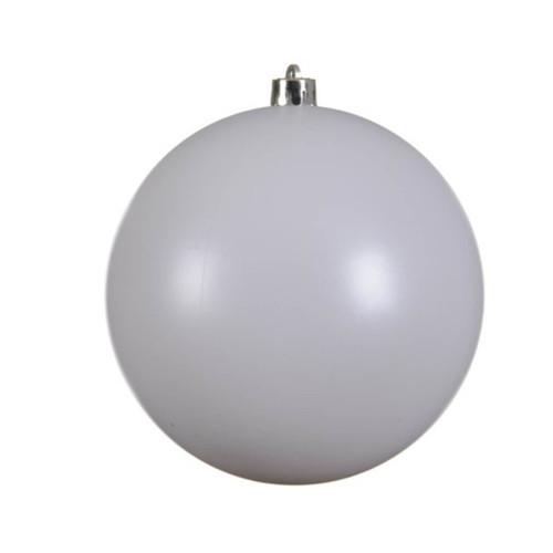 Winter White Shatterproof Christmas Tree Ornaments - 14cm Diameter