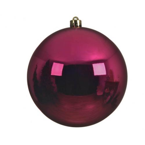 Berry Pink Shatterproof Christmas Ornaments - 14cm Diameter