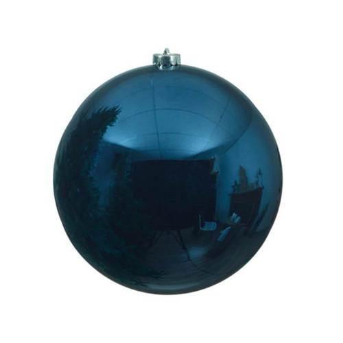 Night Blue Shatterproof Christmas Tree Ornament - 14cm Diameter