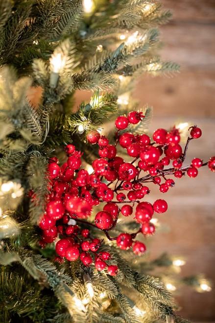 "24"" Mixed Size Berry Christmas Tree Sprays"