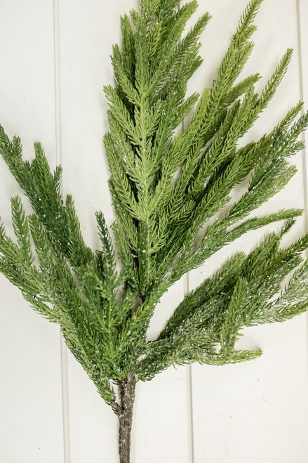 "30"" Iced Garden Norfolk Pine Branch Christmas Tree Sprays"