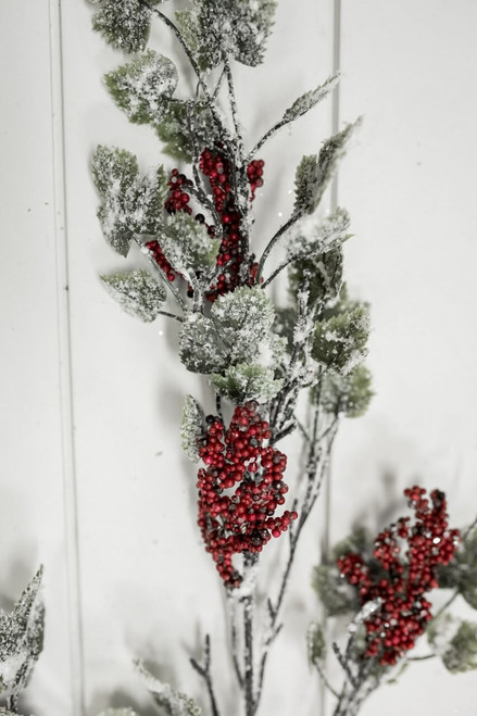 """36"""" Frosted Mini Grape Leaf and Berry Christmas Sprays"""