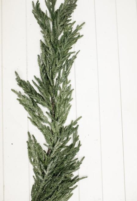 """48"""" Iced Garden Norfolk Pine Garland Natural Touch"""
