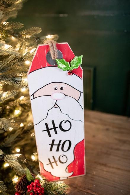 """15.75"""" Wood Santa & Snowman Wall Hanging Decor"""