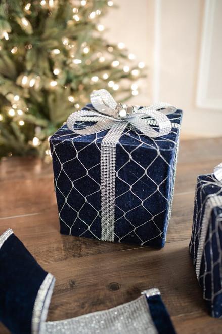 """8"""" Navy Velvet Jewel Gift Box"""