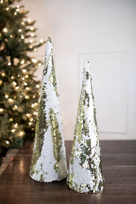 "20"" Large Cone Tree W/ 2-Tone Spangles"