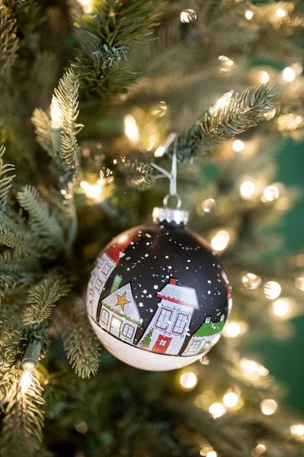 "4"" Glass House Ornament"