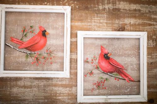 "15.5"" Cardinal Berries Frame"
