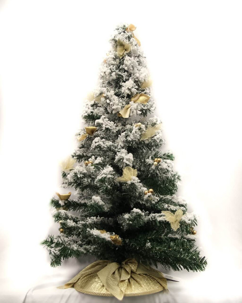 Christmas Tree with Gold Bows