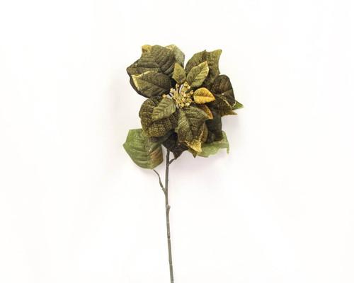 Glitter Velvet Poinsettia