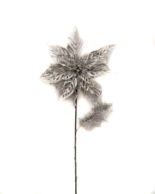 Poinsettia Stem Glitter cutout