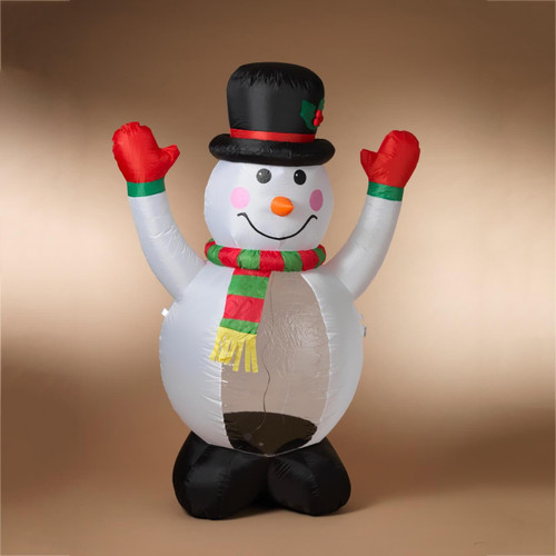 6 ft Lighted Snowman Inflatable