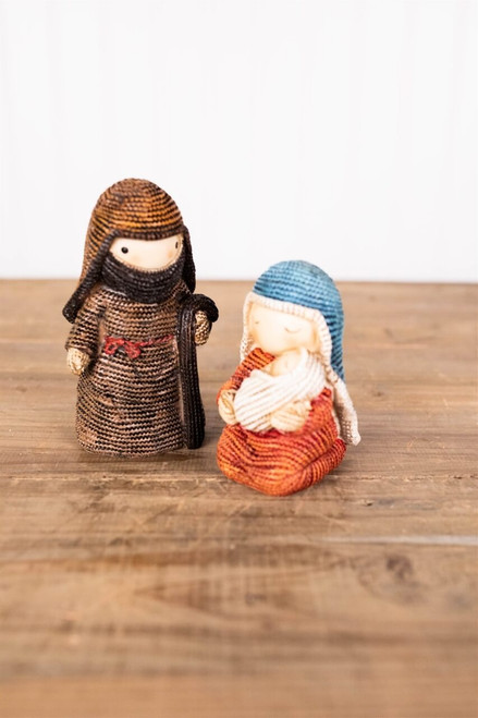 Sweater Knit Kid's Nativity - Set of 2