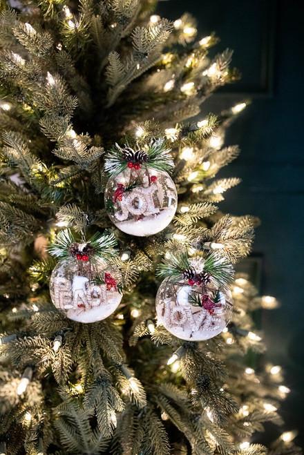 "3"" Glass Peace Joy Love Cardinal Ornament"