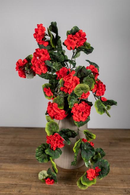 """32"""" Hanging Geranium Red"""