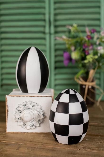 """5.5"""" Terracotta Harlequin Egg"""