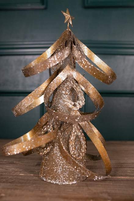 "15"" Small Metal Glitz Tree Decor"
