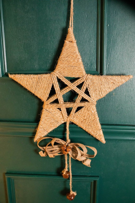 """16"""" Large Jute Star with Dangle"""