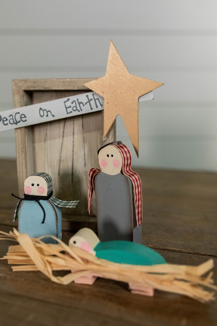 """8"""" Children's Nativity Decor"""