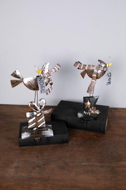 """11"""" Metal Bird Stocking Holder"""