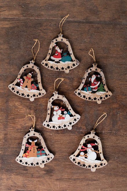 """4"""" Plywood Bell Ornament"""