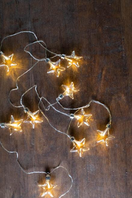 Glass Star String Lights (10 Lights)