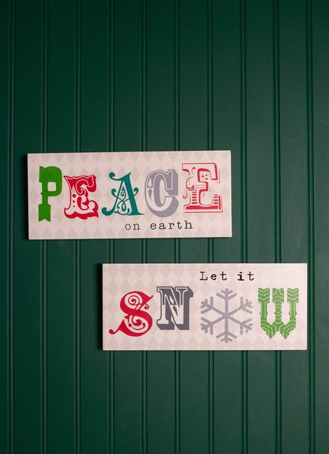 "12"" Christmas Wall Decor Plaque"