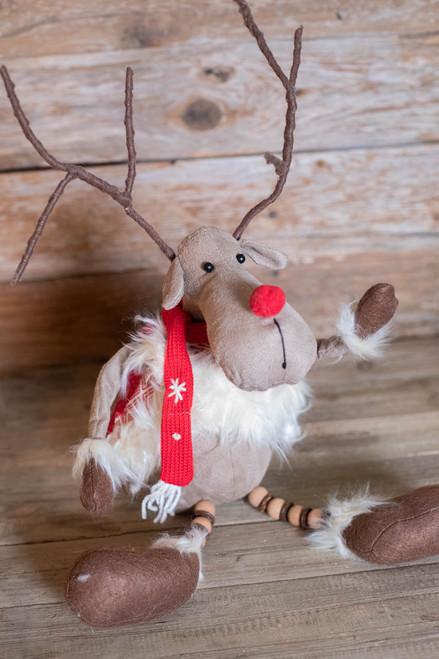 """18"""" Plush Reindeer Shelf Sitter"""