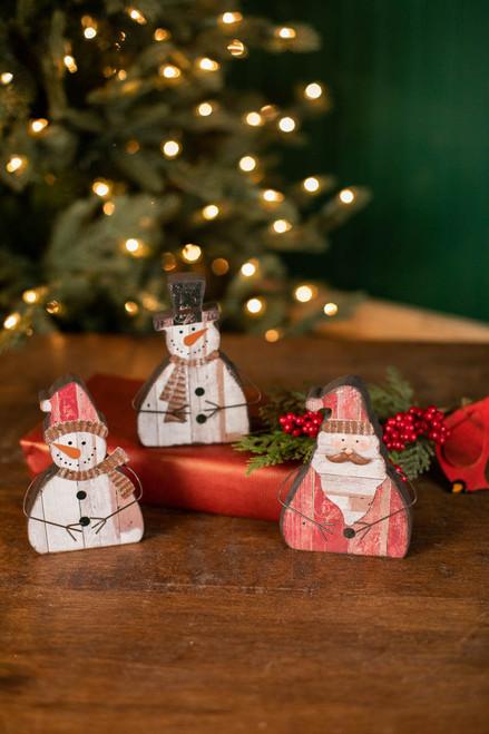 "6"" Santa/Snowman Decoration"