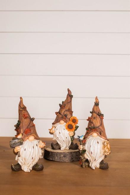 "9"" Resin Harvest Gnome Figurine"