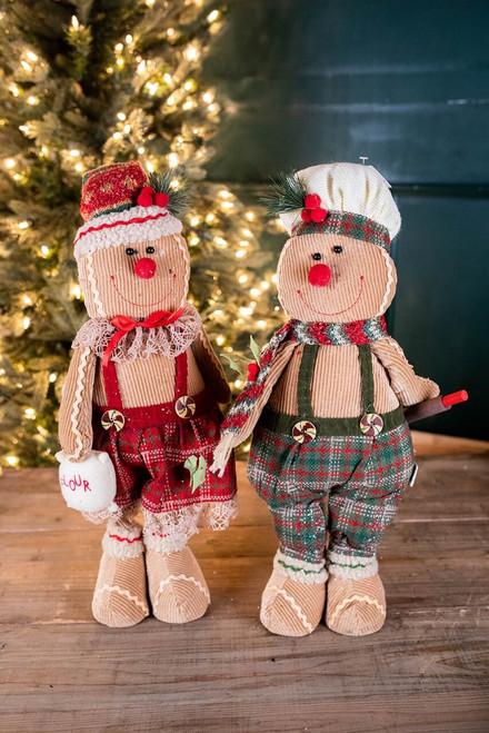 "20"" Plush Gingerbread Figurine"