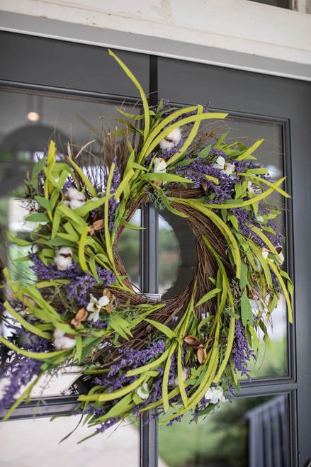 """26"""" Cotton Lavender Wreath"""