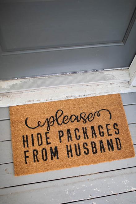 """30"""" x 18"""" Please Hide Packages Coir Door Mat"""