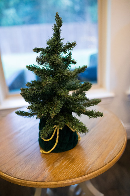 "18"" Christmas Tree In Green Decorative Bag"