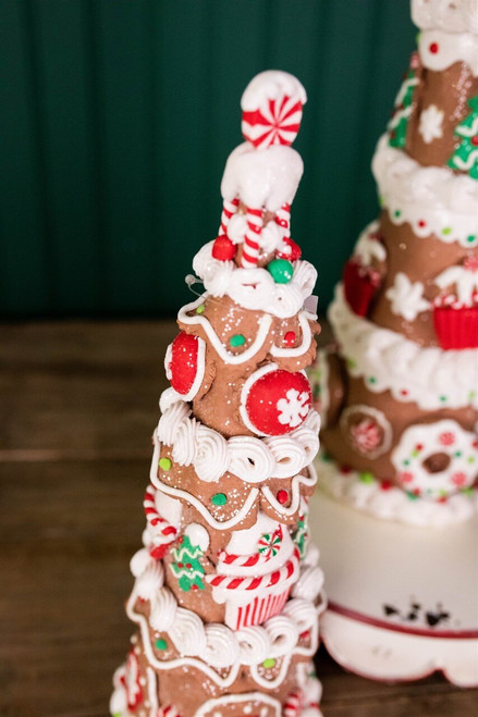"""17"""" Holiday Gingerbread Trees, Set Of 3"""