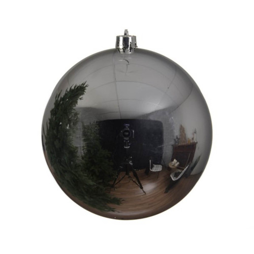 Silver Shatterproof Christmas Tree Ornaments - 20cm Diameter