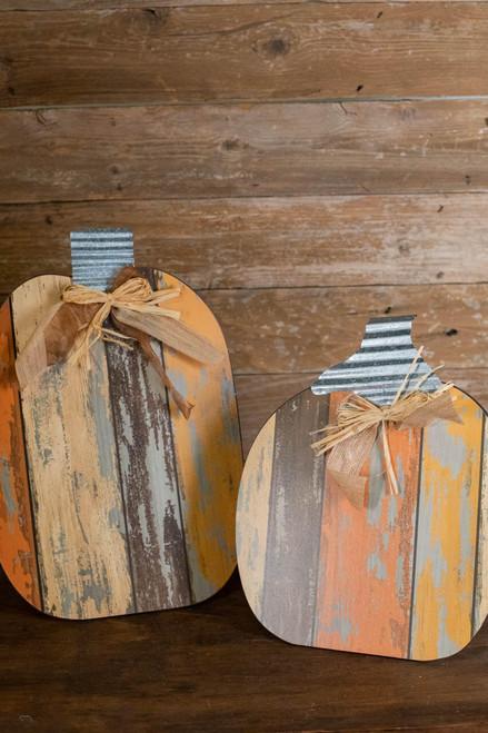 MDF Table Pumpkins - Set Of 2