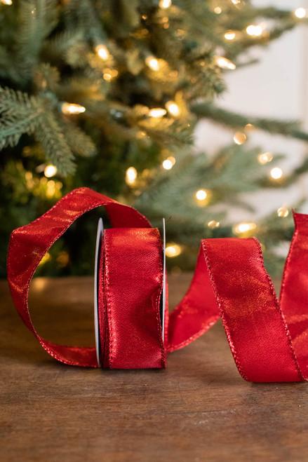 "1.5"" x 10 Yard Red Shimmer Ribbon"