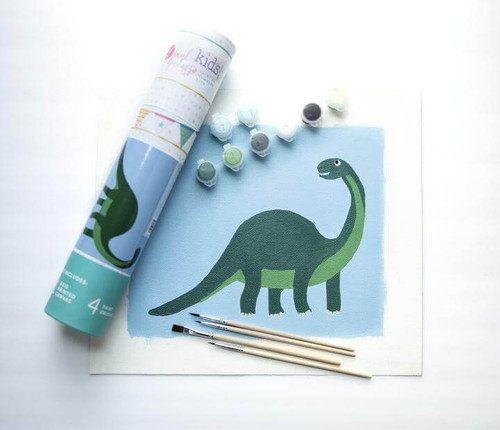 Pink Picasso Kids Paint By Numbers Kit - Dino Giftable