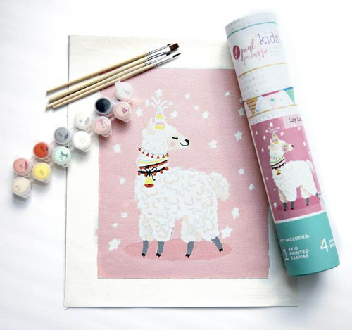 Pink Picasso Kids Paint By Numbers Kit - Lily Llamacorn Giftable