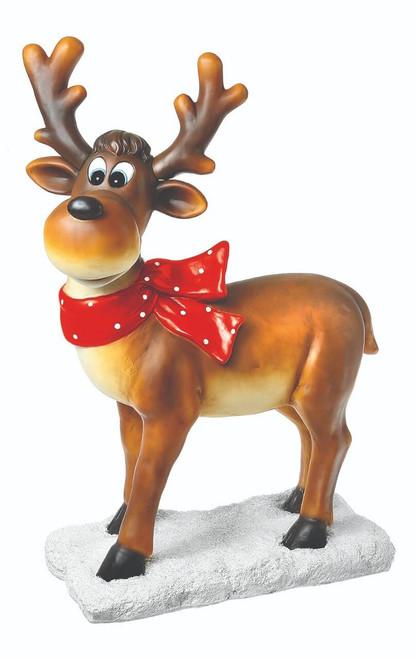 "38"" Resin Standing Reindeer"